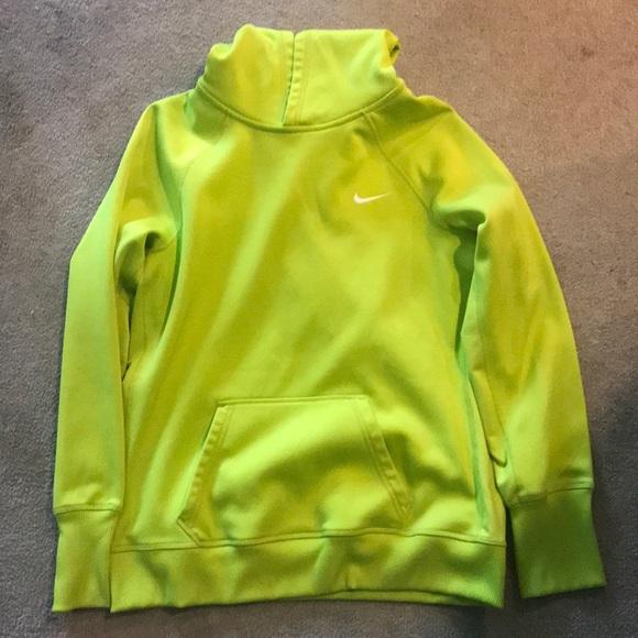 lime green nike sweatshirt